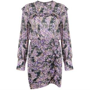 Isabel Marant chiffon Dress purple sz 36